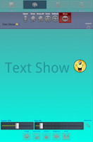 Screenshot of Text Show, Photos & Draw.