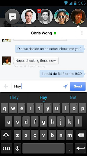 facebook-messenger for android screenshot