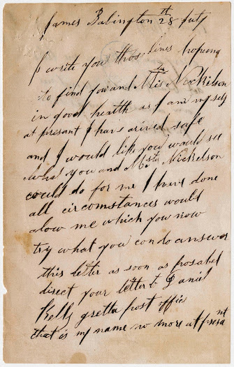 This is a letter written by a young Ned Kelly to Seargent Babington as a way of showing his appreciation.