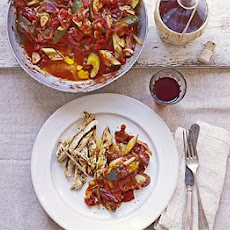 Courgette Caponata With Thyme & Garlic Chicken