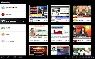 Screenshot of mundu TV for Motorola