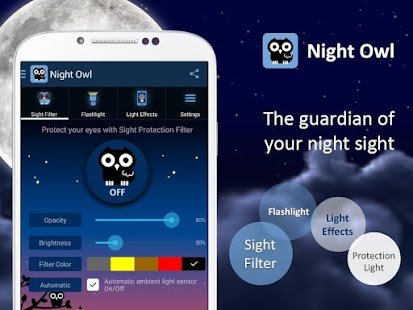 Night Owl-Bluelight Cut Filter APK for iPhone