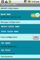 Screenshot of Caller Name Talker