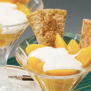 Fruit Dip with Cinnamon Sugar Scoops