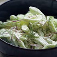 Cucumber Salad with Dill Sour Cream