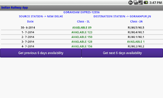Screenshot of Indian Railway
