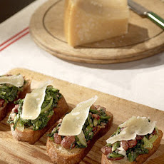 Bean and Chicory Crostini