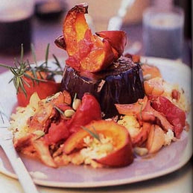 Eggplant Steaks with Pumpkin, Tomato, and Mushroom Ragoût Recipe ...