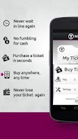 Screenshot of MBTA mTicket