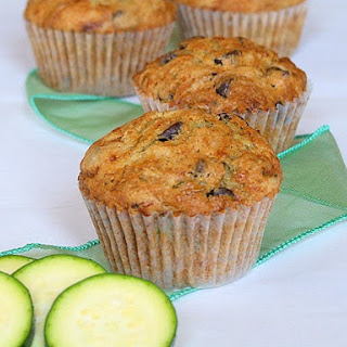 Chocolate Chocolate Chip Zucchini Muffins Recipes