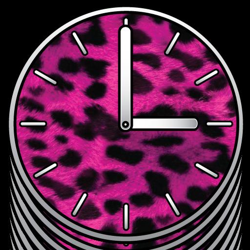 粉紅色的大鐘錶 - 免費 LOGO-APP點子
