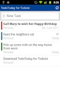 Screenshot of TodoToday for Todoist