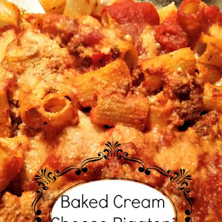 Baked Cream Cheese Rigatoni