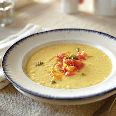 Corn Soup with Fresh Tomatoes