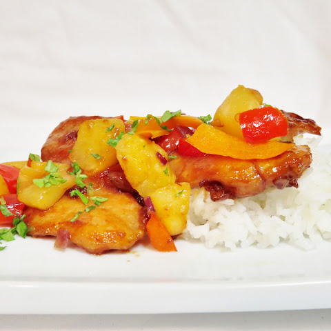 Glazed Chicken Thighs with Pineapple Relish