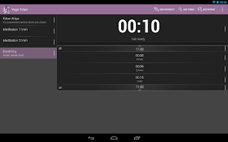 Screenshot of Yoga Timer