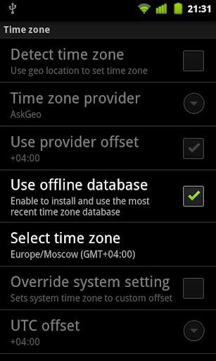 TimeZoneDB for ClockSync
