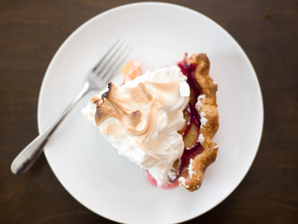 Plum Meringue Pie