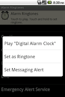 Screenshot of Alarm Ringtones