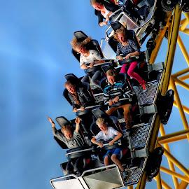 Linnanmäki by Richard  Harris - City,  Street & Park  Amusement Parks ( amusement park, linnanmäki, suomi, helsinki, finland )