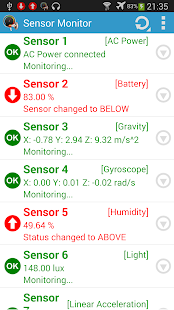 Sensor Monitor - screenshot