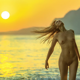 Symphony sunset by Dmitry Laudin - Nudes & Boudoir Artistic Nude ( woman, sea )