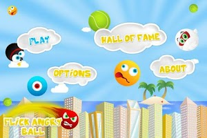 Screenshot of Flick Angry Ball