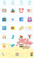Screenshot of Leaves Dodol launcher theme