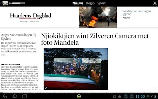 Screenshot of Haarlems Dagblad digikrant