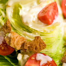 Twisted Iceberg Lettuce Salad With Warm Gorgonzola Dressing