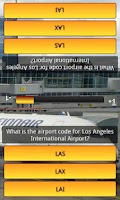 Screenshot of Airport Codes Quiz