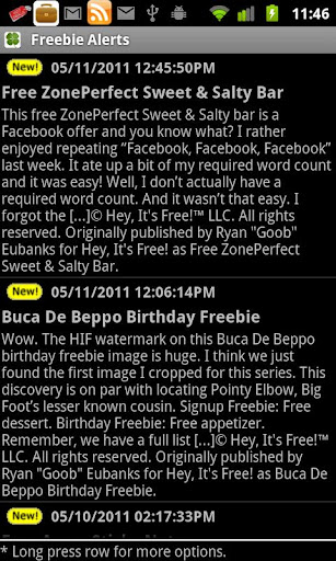 Freebie Alerts