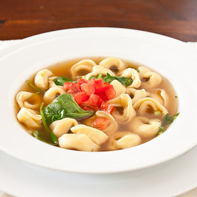 Quick Chicken Tortellini Soup
