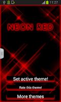Screenshot of Neon Red Keyboard