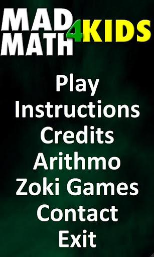 Mad Math 4 Kids Free