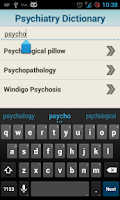 Screenshot of Medical Psychiatric Dictionary