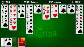 Screenshot of Spider Solitaire Jogatina