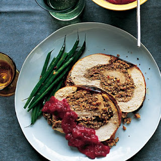 Rolled Turkey Breast with Sausage-Pecan Stuffing