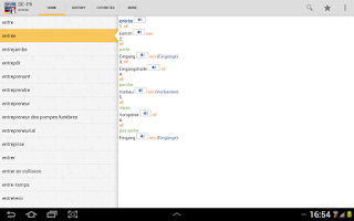 Screenshot of German<>French Dictionary TR
