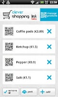 Screenshot of Clever Shopping List
