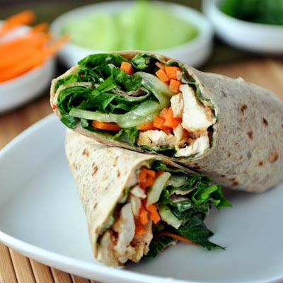 Thai Chicken Crunch Wraps