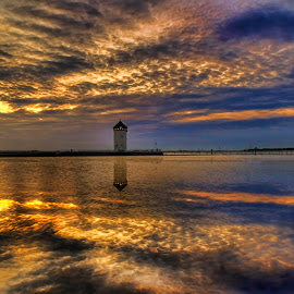 A Little Light Reflection by Andrea Abbott - Landscapes Sunsets & Sunrises (  )