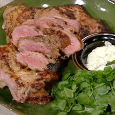 Yogurt-Marinated Grilled Leg of Lamb