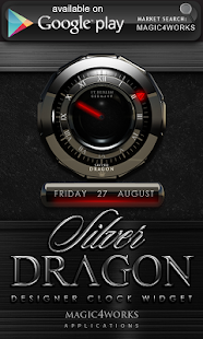 Next Launcher Theme Silver Dra - screenshot