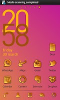 Screenshot of Sunrise GO Launcher Ex Theme