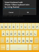 Screenshot of Cool Yellow Keyboard Skin