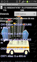 Screenshot of Bus guide for Lima and Callao