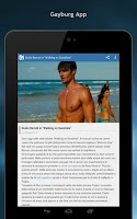 Screenshot of Gayburg: notizie dal mondo gay