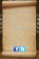 Screenshot of Reflex Dojo: How fast are you?