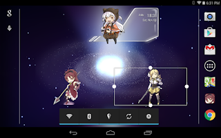 Screenshot of Madoka Magica Clock Widget
